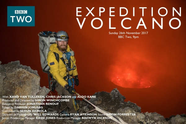 Segun Scores BBC series 'Expedition Volcano'